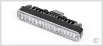 Cell2  - MS6 - ECE-R65 Class 2. Very Compact, extremely powerful module with 6 super bright LEDs. Surface or Hood mount. Available in Amber, Blue, Red and White.